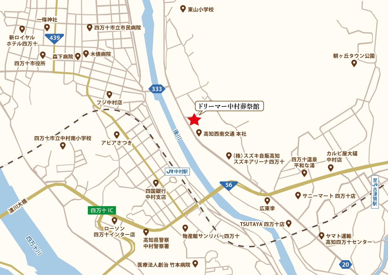 四万十市周辺地図